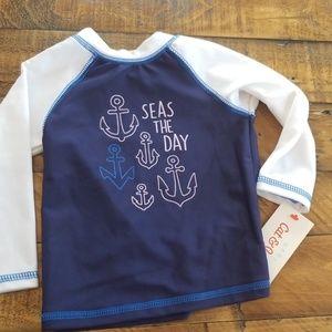 Infants Rashguard Long Sleeve Swim Shirt